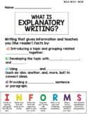 Explanatory Writing Graphic Organizer and Bookmark