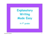 Explanatory Writing Made Easy