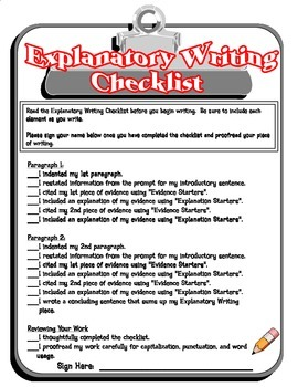 Explanatory Writing Printables