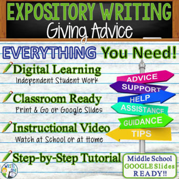 EXPOSITORY WRITING PROMPT - Advice - Middle School