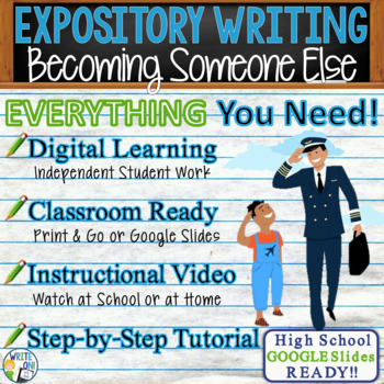 Expository Writing Lesson Prompt w/ Digital - If I Could Become Someone Else