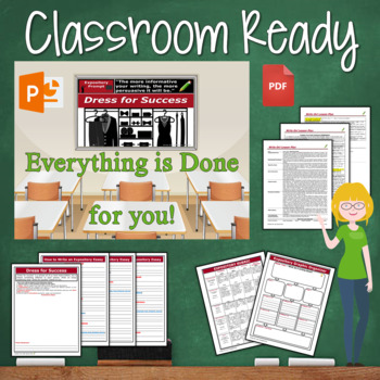 Expository Writing Lesson / Prompt – with Digital Resource – Dress for Success