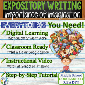 EXPOSITORY WRITING PROMPT - Imagination - Middle School