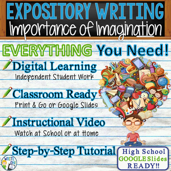 EXPOSITORY WRITING PROMPT - Imagination - High School