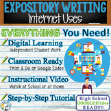 Expository Writing Lesson / Prompt – with Digital Resource – Internet Uses
