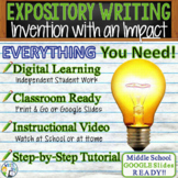 Expository Writing Prompt w/ Graphic Organizer, Rubric  Invention with an Impact