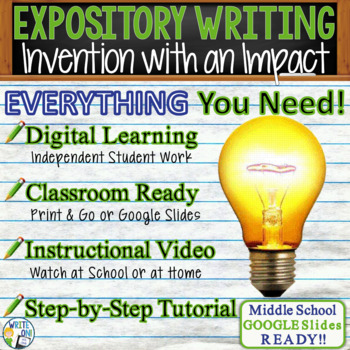 EXPOSITORY WRITING PROMPT - Inventions - Middle School