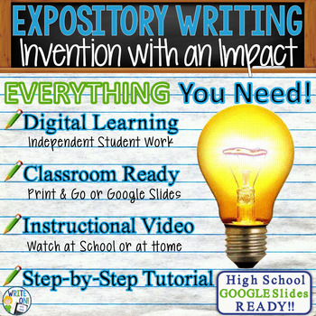 EXPOSITORY WRITING PROMPT - Inventions - High School