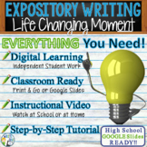 Expository Writing Prompt with Graphic Organizer, Rubric - Life Changing Moment