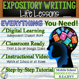Expository Writing Prompt with Graphic Organizer, Rubric - Life Lessons