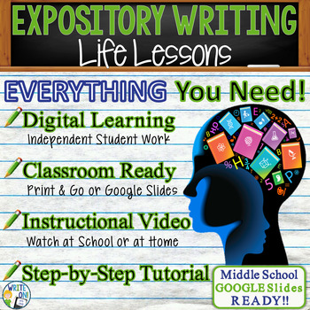 EXPOSITORY WRITING PROMPT - Life Lesson - Middle School