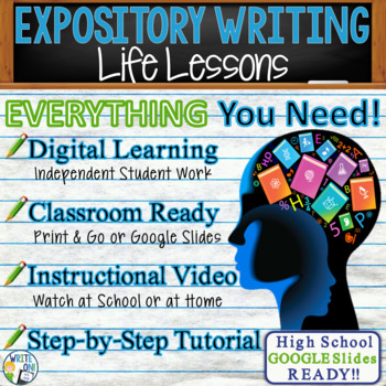 EXPOSITORY WRITING PROMPT - Life Lessons - High School