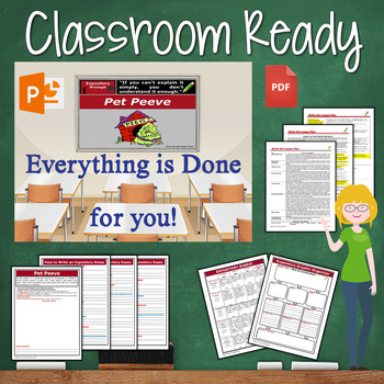 Expository Writing Prompt with Graphic Organizer, Rubric - Pet Peeve