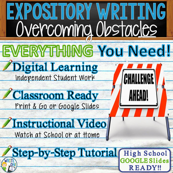 Expository Writing Lesson / Prompt  with Digital Resource – Overcoming Obstacles