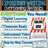 Expository Writing Lesson / Prompt  with Digital Resource