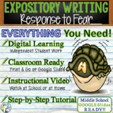 Expository Writing Prompt with Graphic Organizer, Rubric - Response to Fear