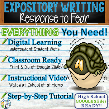 Expository Writing Lesson / Prompt – with Digital Resource - Response to Fear