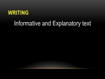 Explanatory, expository, and informative essay writing