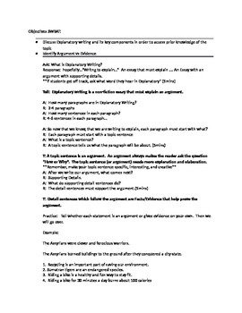 Explanatory/Expository Writing Scripts for 5th Grade
