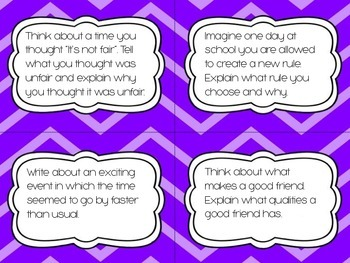 Explanatory/Informative Writing Prompt Task Cards