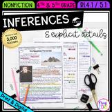 Making Inferences & Explicit Details - RI.4.1 & RI.5.1 Goo