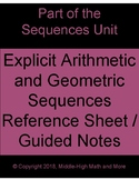 Explicit Form of Arithmetic and Geometric Sequences Refere