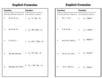 Explicit Formulas Foldable for Study and Homework