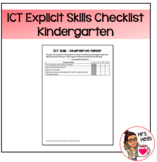 Explicit ICT Skills Checklist - Kindergarten