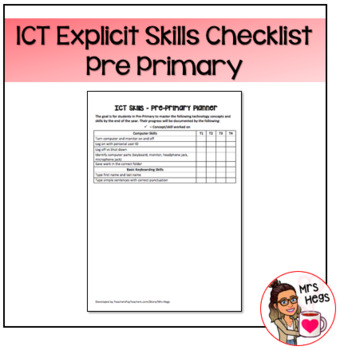 Explicit ICT Skills Checklist - Pre-Primary