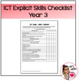 Explicit ICT Skills Checklist - Year 3