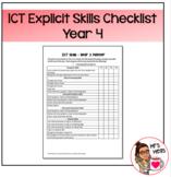 Explicit ICT Skills Checklist - Year 4