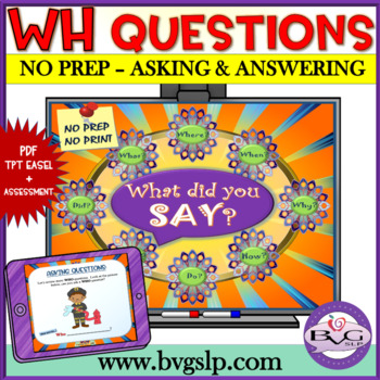 Explicit Instruction: Asking and Answering WH Questions NO