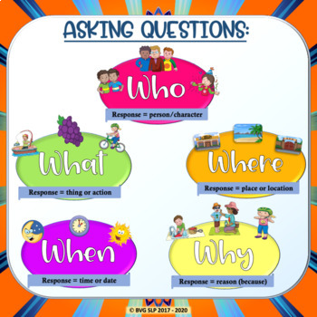 Asking & Answering WH Questions Teletherapy