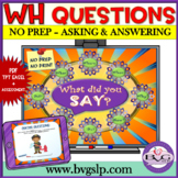 Speech Therapy Asking & Answering WH Questions Teletherapy