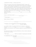 Explicit Instruction Lesson Plan - Compare and Contrast