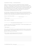 Explicit Instruction Lesson Plan - Generating Questions
