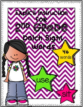 Explicit Instruction for Second Grade Dolch Sight Words