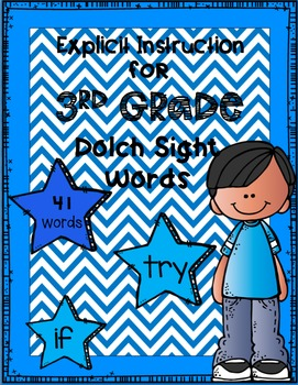 Explicit Instruction for Third Grade Dolch Sight Words