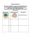 Explicit Language Arts Lesson on Making Predictions with Graphic Organizer