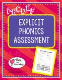 Explicit Phonics Assessment