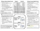 Explicit & Recursive Formula Foldable