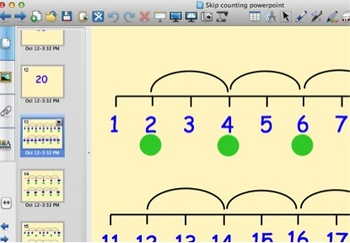 Explicit Skip counting 2's and 5's