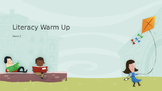 Explicit Teacher Literacy Warm Up Term 1 Week 2 Kindy