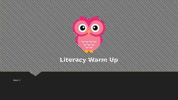 Explicit Teacher Literacy Warm Up Term 1 Week 2 Pre-primary