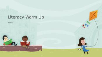 Explicit Teacher Literacy Warm Up Term 1 Week 3 Kindy