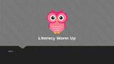 Explicit Teacher Literacy Warm Up Term 1 Week 4 Pre-primary
