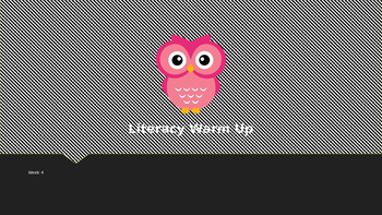 Explicit Teacher Literacy Warm Up Term 1 Week 4 Pre-primary