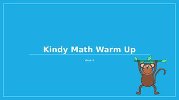 Explicit Teacher Math Warm Up Term 1 Week 4 Kindy