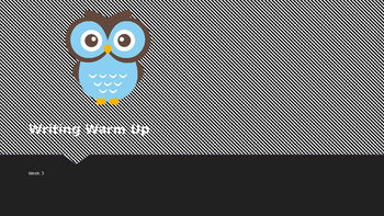 Explicit Teacher Writing Warm Up Term 1 Week 3 Pre-primary