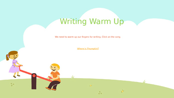 Explicit Teacher Writing Warm Up Term 1 Weeks 4 and 5 Kindy